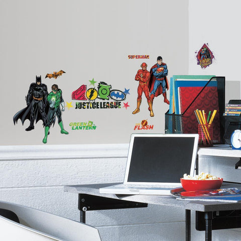 DC COMICS JUSTICE LEAGUE Peel & Stick Vinyl Wall Decals Superman Batman Kids Room Decor Stickers - EonShoppee