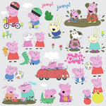 28 New PEPPA PIG Peel & Stick Wall Decals George & Family Nursery, Kids Stickers