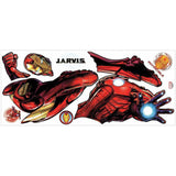 Iron Man Peel And Stick Giant Wall Decals with Glow - EonShoppee