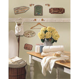 Country Signs Peel & Stick Wall Decals Laundry Kitchen Bathroom Stickers
