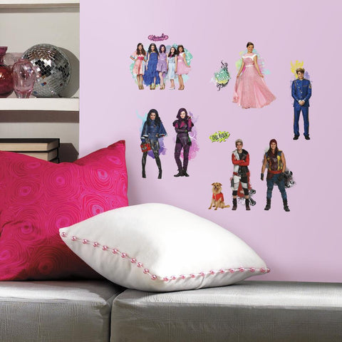 DISNEY DESCENDANTS 24 Wall Decals MAL EVIE Room Decor Stickers