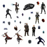 New  BLACK PANTHER Movie WALL DECALS 26 Kids Marvel Superheroes Room Decor Stickers - EonShoppee