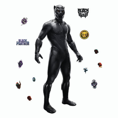 "BLACK PANTHER Movie 51"" Giant WALL DECALS Marvel Superhero Mural Stickers Kids Room Decor Wakanda"