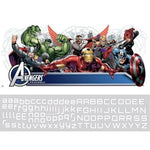 Marvel Avengers Assemble Headboard Giant Wall Decal with Alphabet Kids Personalization Superhero Stickers