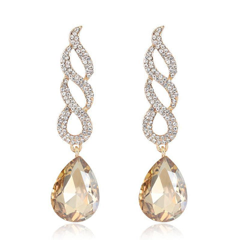 New Golden Long Dangle Stylish Women Party Dress Cocktail Earrings Women Fashion Jewelry - EonShoppee