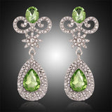 Designer Green Crystal Wedding Party Dress Cocktail Women Fashion Jewelry Earrings