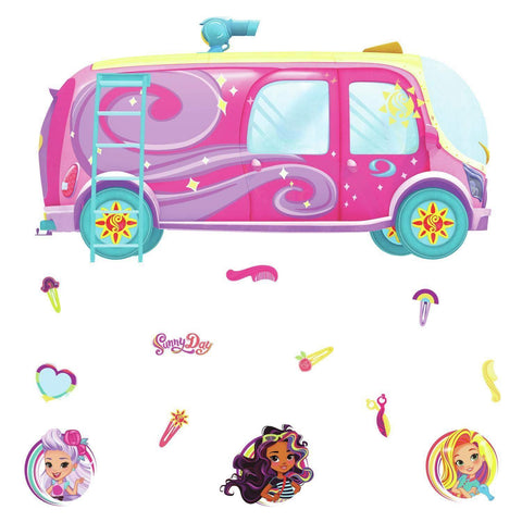 Sunny Days Bus Peel & Stick Giant Wall Decals - EonShoppee