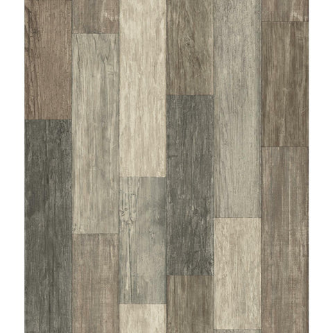 Dark Weathered Plank Peel & Stick Wallpaper - EonShoppee