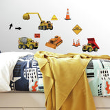 Under Construction 23 BIG Wall Stickers Bedroom Decals Room Decor Trucks Cranes - EonShoppee