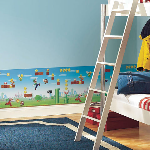 Mario Scene Peel & Stick Wallpaper Border - EonShoppee
