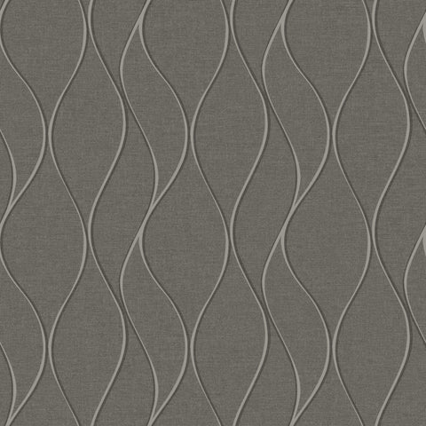 Grey Wave Ogee Peel & Stick Wallpaper - EonShoppee