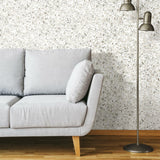 Terrazzo Black Colored Peel & Stick Wallpaper - EonShoppee