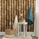 Cabin Logs Peel & Stick Wallpaper - EonShoppee