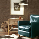 Faux Grasscloth Brown Peel & Stick Wallpaper - EonShoppee
