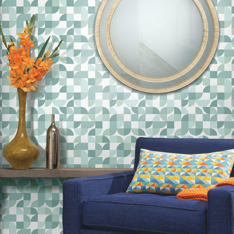 Mid-Century Geometric Peel & Stick Wallpaper - EonShoppee