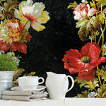 Vintage Floral Stripe Peel & Stick Wallpaper - EonShoppee