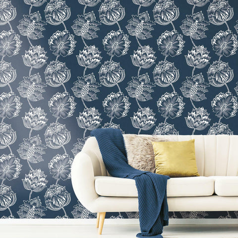 Batik Jacobean Peel & Stick Wallpaper - EonShoppee