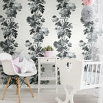 RoomMates Watercolor Floral Stripe Peel & Stick Wallpaper - EonShoppee