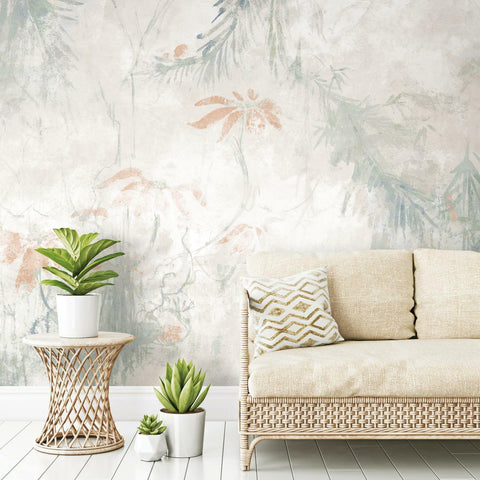 RoomMates Jungle Lily Mural Peel & Stick Wallpaper - EonShoppee