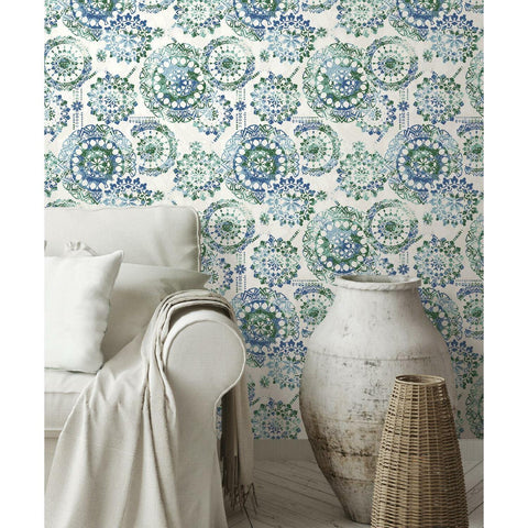 RoomMates Bohemian Medallion Peel & Stick Wallpaper - EonShoppee