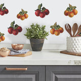 Fruit Harvest wall stickers 26 colorful decals Apples & Grapes kitchen decor