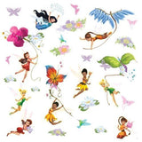 Disney Fairies Peel & Stick Wall Decals With Glitter - EonShoppee