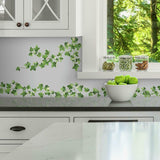 Painterly Ivy VINES Peel & Stick WALL DECALS Kitchen Leaves Stickers Vine & Leaf Decor - EonShoppee