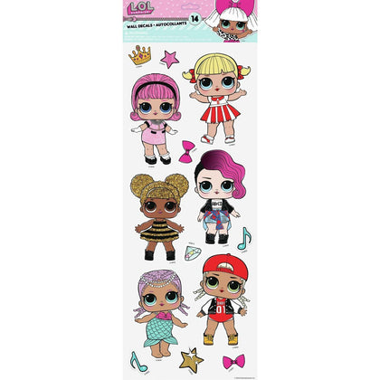 LOL Surprise Dolls Peel And Stick 14 Wall Decals Splash Queen Bee L.O.L. Stickers - EonShoppee