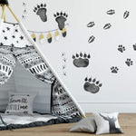 Roommates Animal Tracks Peel And Stick Wall Decals