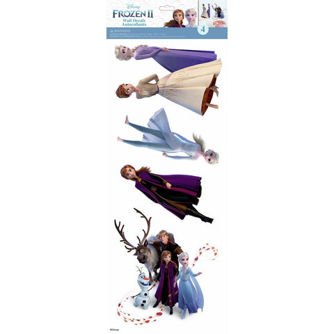 Disney FROZEN 2 Wall Stickers 4 Decals Anna Elsa Olaf Peel & Stick Room Stickers - EonShoppee