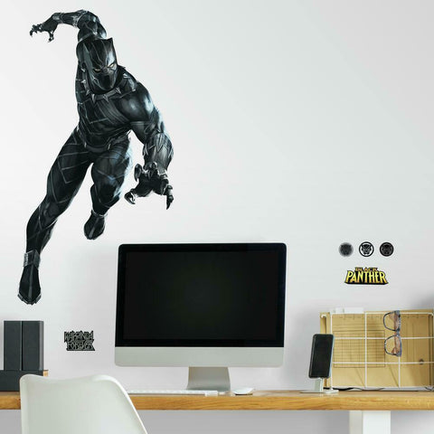 New Giant Black Panther Peel & Stick Wall Decals Kids room Decor Marvel Superhero Stickers