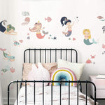 Sweet Pastel Mermaids Peel And Stick Wall Decals - EonShoppee