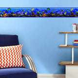 Under The Sea Wall Border Peel & Stick Wallpaper - Tropical Bathroom Decor Border