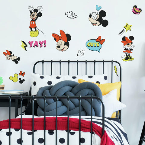 Mickey And Minnie Mouse Peel & Stick Wall Decals - EonShoppee