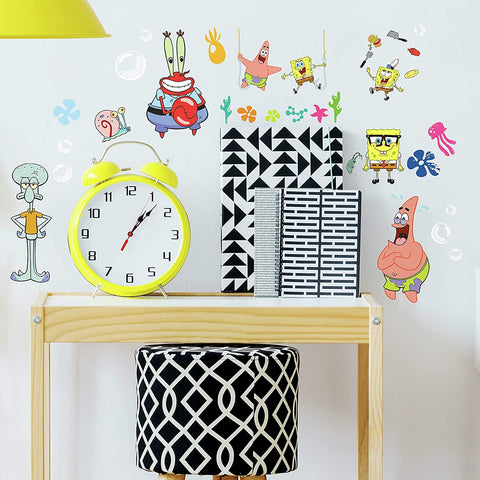 Spongebob Classic Peel And Stick Wall Decals