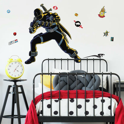 GI Joe Retro Snake Peel And Stick Giant Wall Decals - EonShoppee