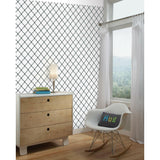 Modern Trellis Peel And Stick Wallpaper - EonShoppee