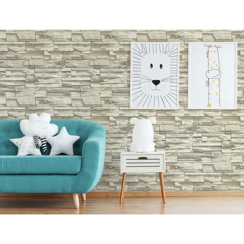 Natural Stacked Stone Peel And Stick Wallpaper