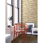 Stuccoed Brown Brick Peel And Stick Wallpaper - EonShoppee