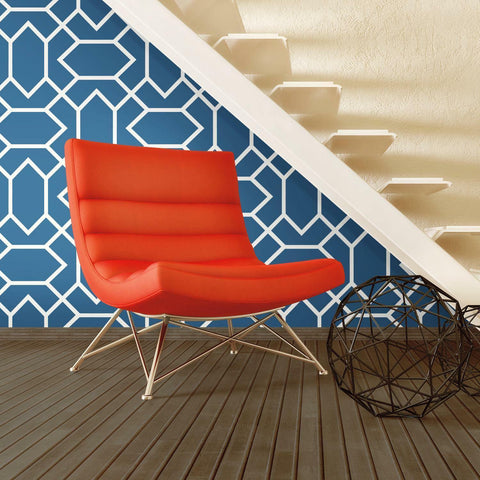 RoomMates Modern Geometric Blue Peel & Stick Wallpaper - EonShoppee