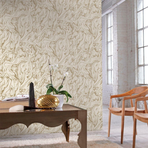 Marble Gold Peel & Stick Wallpaper - EonShoppee