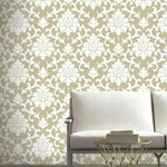 RoomMates Damask Gold Peel & Stick Wallpaper - EonShoppee