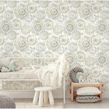 RoomMates Bohemian Tan/Blue Peel & Stick Wallpaper - EonShoppee