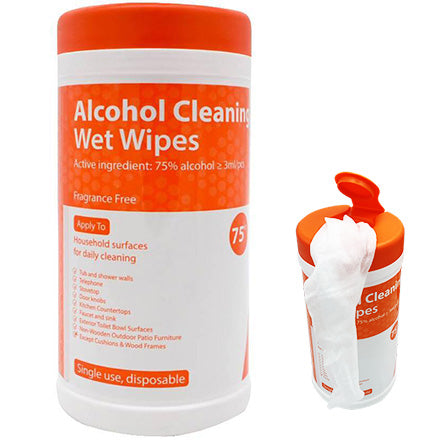 75% Alcohol Wipes Canister
