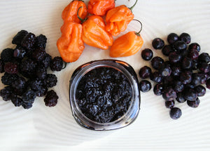 Arawak Farm Spicy Fruit Spread- Blue-Blackberry