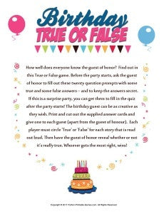 picture relating to Printable Party Games identified as 40th Birthday Game titles