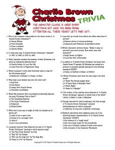 Sweet image in printable christmas trivia