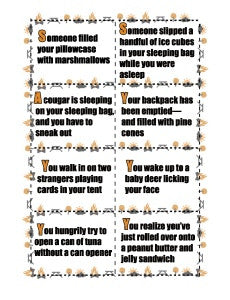 Tent Charades Printable Games