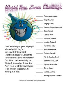 New Year's Eve Packet – Printable Games