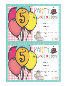 5th Party Games Invites